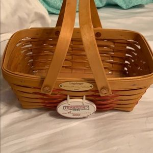 Longaberger handwoven Basket.